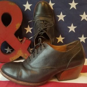 Retro Vintage Leather Kork-Ease Shoe's